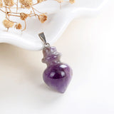Gemstone Tin Top Shape Pendants Or Pendulums, PND4127XX