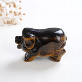 "2"" Size Crystal Pig, Gemstone Hog Carvings, PIG2001XX"