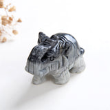"2"" Size Crystal Elephant, Gemstone Mammoth Carvings, ENT2001XX"