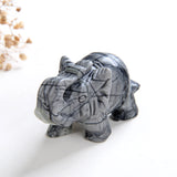 "1.5"" Size Crystal Elephant, Gemstone Mammoth Carvings, ENT1501XX"