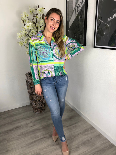 Blouse Jessy | print paars