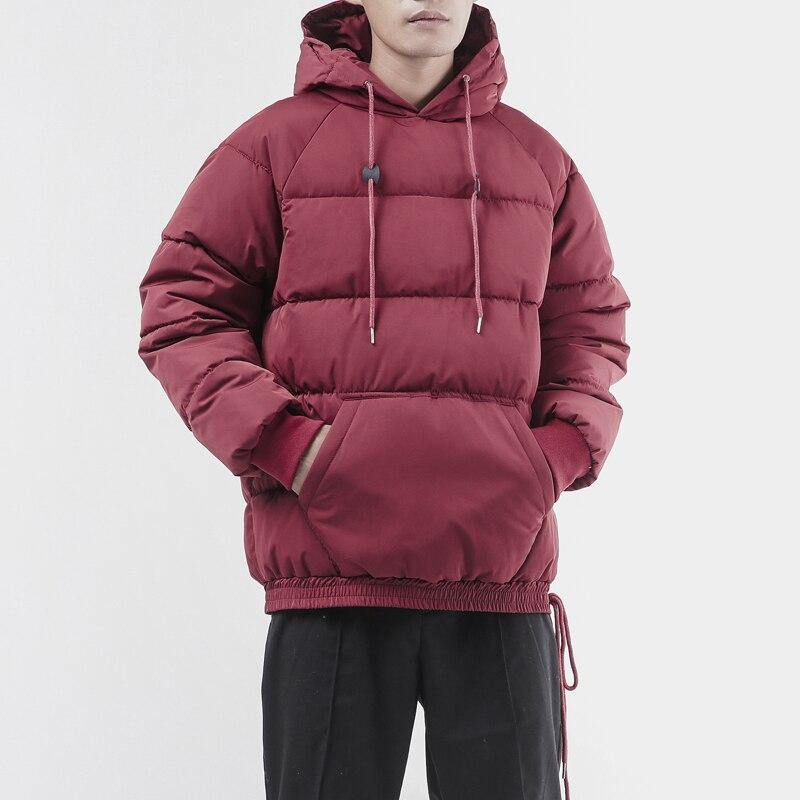 Mens winter oversized bubble coat jacket warm wear and hooded Windbreaker