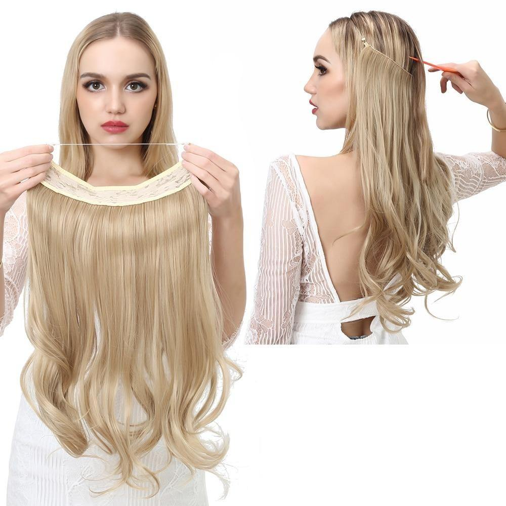 Wave Halo Hair Extensions Invisible Ombre - soqexpress