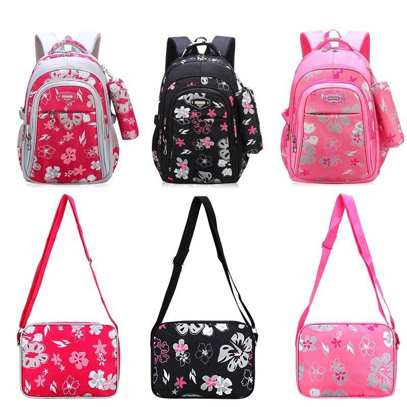 Floral Girls School Backpacks