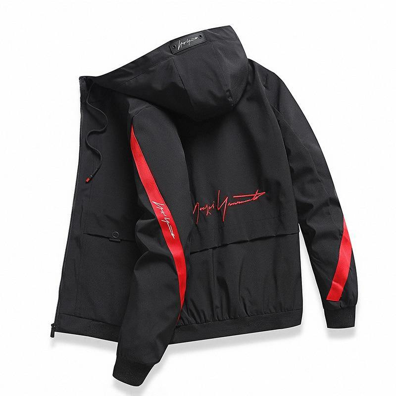 Hooded men's casual street slim windbreaker high quality jacket