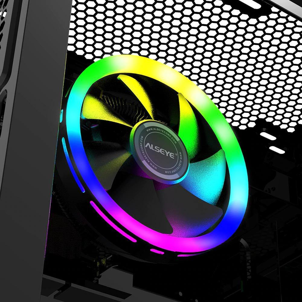 CPU Cooler 4Pin PWM RGB Cooling Fan Quiet Radiator for In tel 775/115X/ AM2 AM3 AM3 AM4