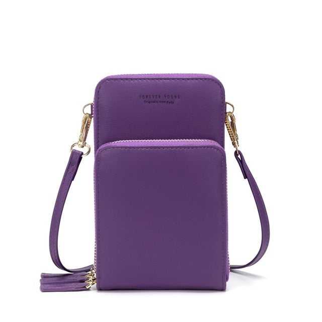 Colorful Cellphone & Card Holder Shoulder Bag