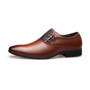 Aurora Classic Man Pointed Toe Dress Shoe - soqexpress