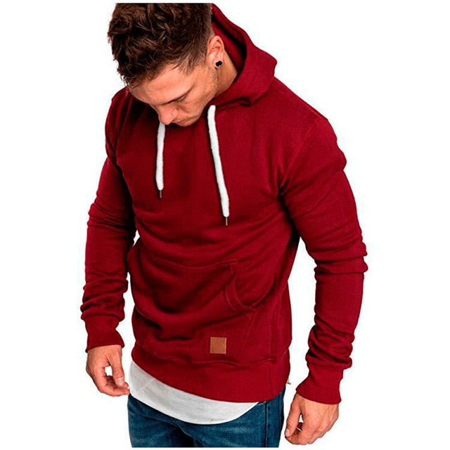 Sweatshirts Men NEW Casual Hoodies Brand Male Long Sleeve Solid Hooded