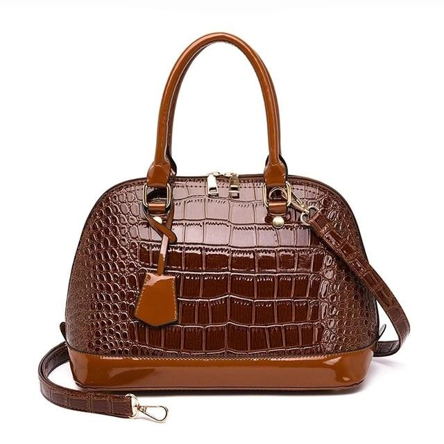 Ladies Hand Bag Crocodile Designer