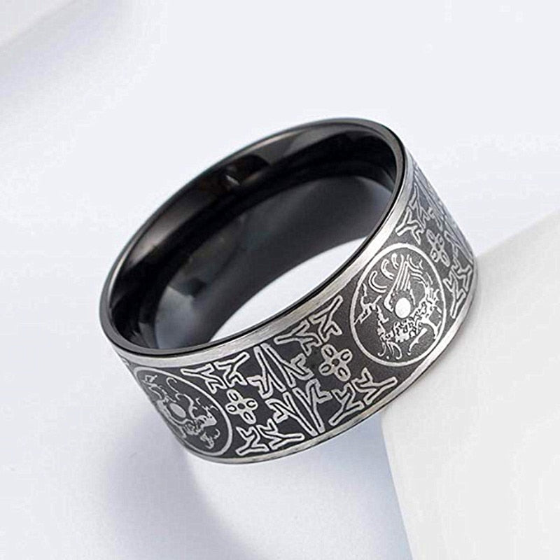 Viking male Ring stainless steel dragon ring for men