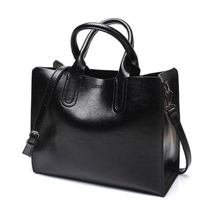 CASUAL FEMALE LEATHER HANDBAG