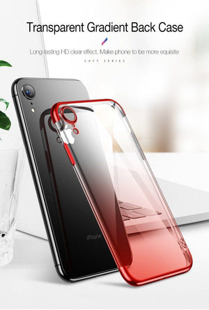 Case for iPhone Xr XS XS Max Cover Transparent Silicone Cover