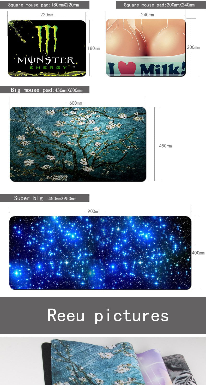 Gaming Mouse Pad Locking Edge Large Mouse Pad