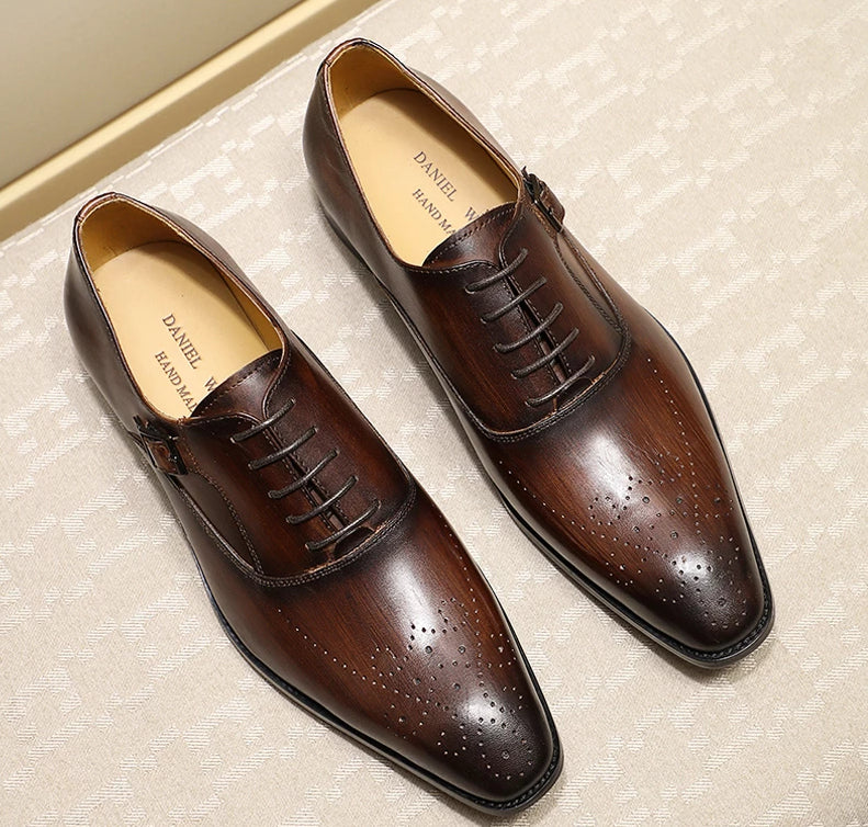 Men's Benito Leather Oxford Dress Shoes