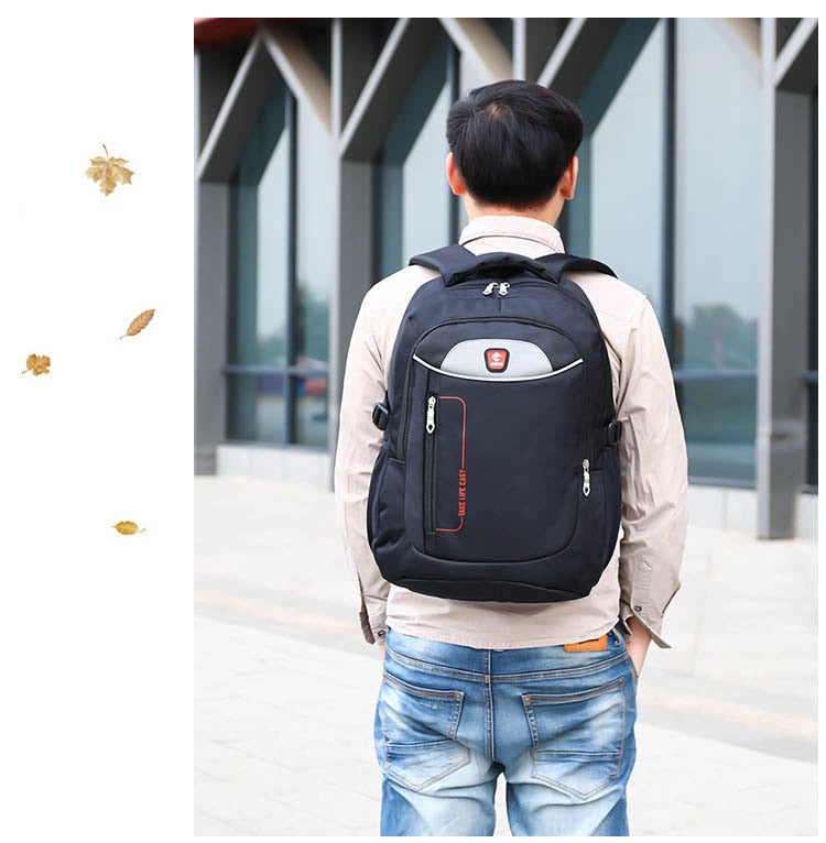2019  Men Pack Black Waterproof Bags Oxford Luxury Soft Handle Backpack