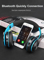 Adjustable Wireless Stereo Earphones With Mic/TF Card