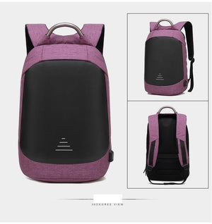 Anti theft 15.6  Waterproof With USB Charge High capacity Backpack