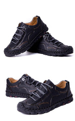 Handmade leather Summer Soft Men Casual Shoes