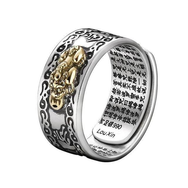 Charms Ring Feng Shui Amulet Wealth & Luck Open Adjustable Ring