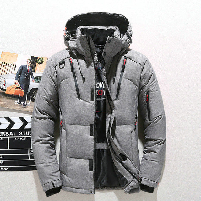Thick Warm Windbreaker Men Overcoat
