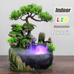 Home Garden Crafts Creative Indoor Simulation Resin Rockery Waterfall
