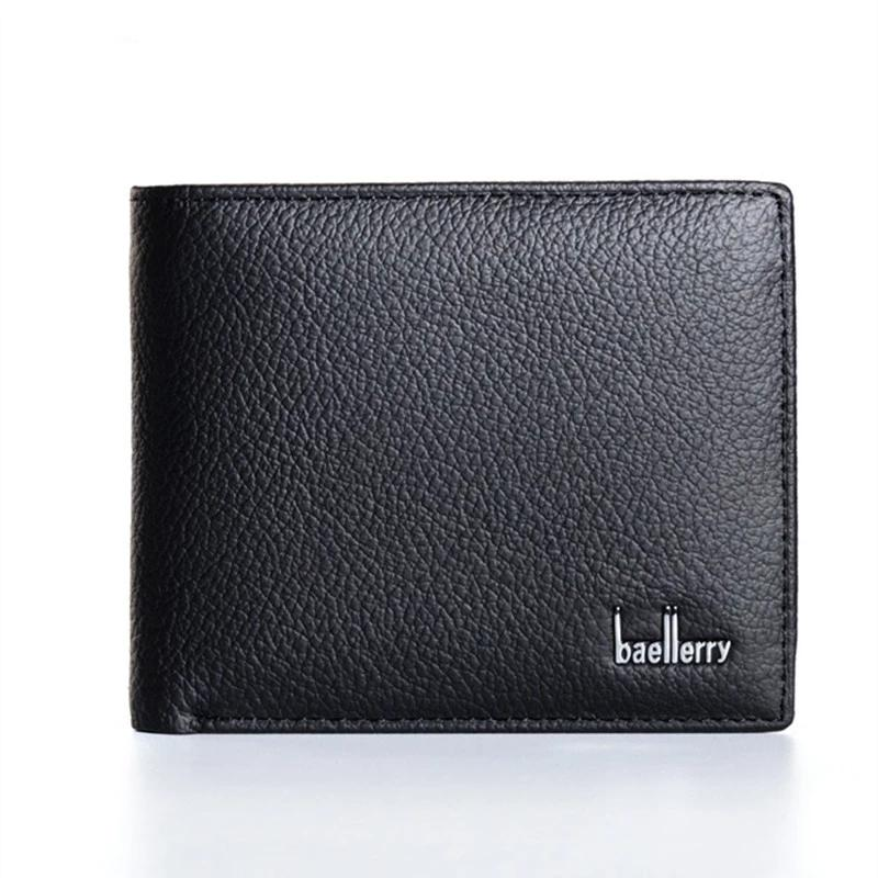 men's high quality top Genuine leather wallet