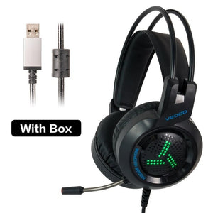 PC Gaming Headset 7.1 Gamer Surround Sound Bass Stereo Game Headphones