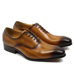 Pietro Hand Painted Genuine Leather Oxford Shoe