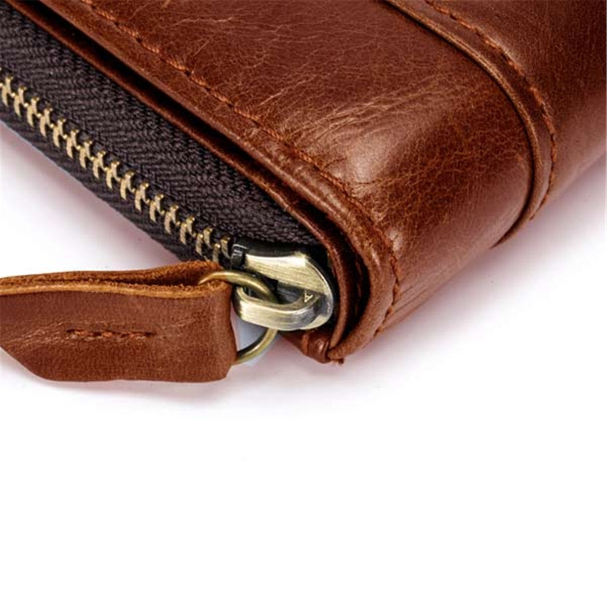 RFID Antimagnetic Vintage Genuine Leather Wallet For Men