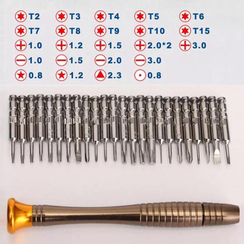 33 in 1 Cell Phones Opening Pry Mobile Phone Repair Tool Kit Screwdriver Set - soqexpress