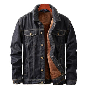 Winter Men Jacket And Coat Warm Fleece Denim Jacket