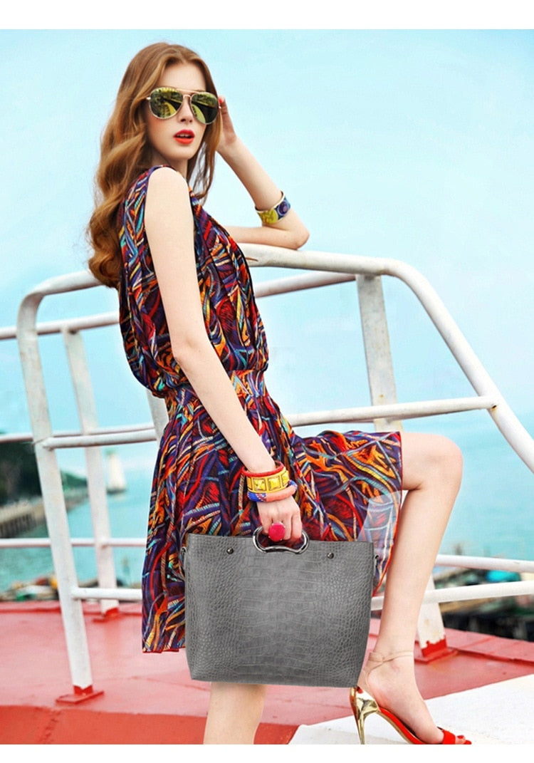 WOMEN'S RETRO TOTE HANDBAG