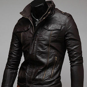 Gentlemen Cavalier PU Leather Jacket