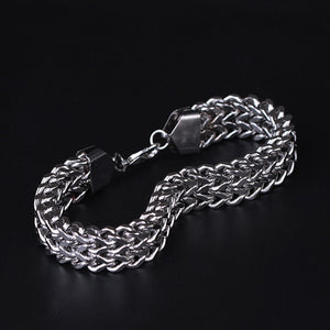 Men Stainless Steel Bracelet Simple Design Vintage Snake Chain
