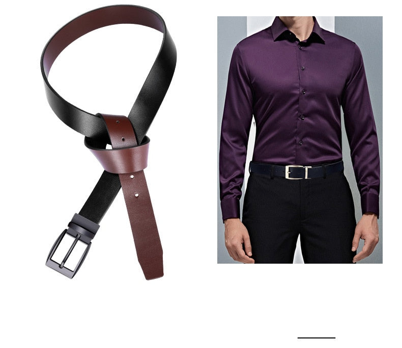 Men's high quality genuine leather luxury brand belt