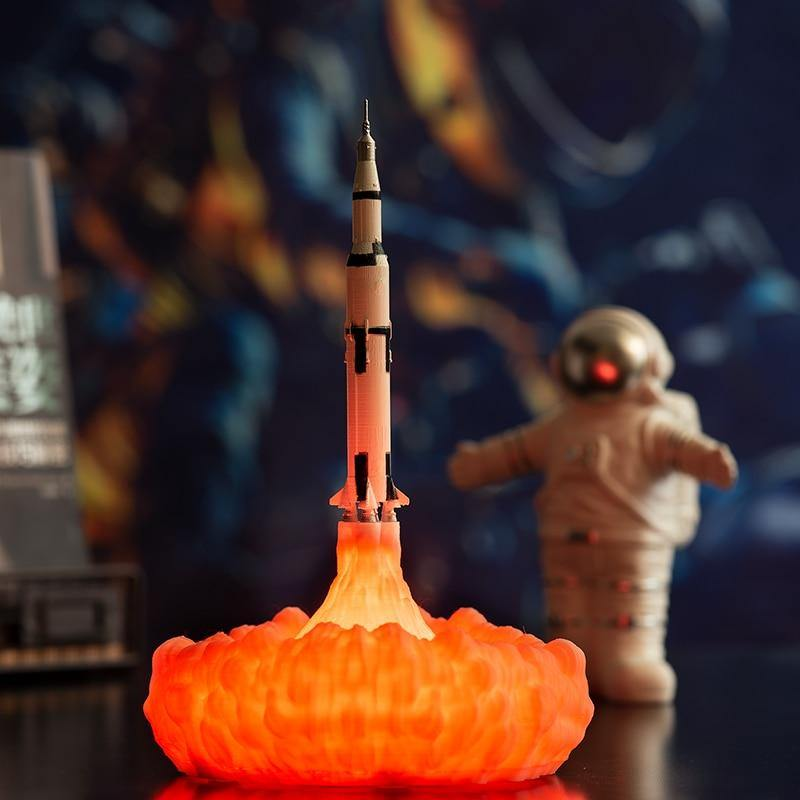 3D Print Saturn V Lamps Rechargeable Night Light Apollo 5