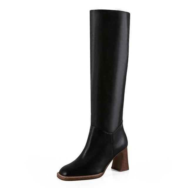 Casual Knee High Heel Warm Boots