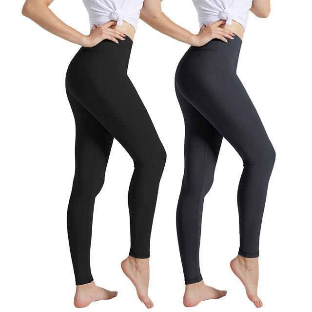 Women Black High Waist Push Up Leggings - soqexpress