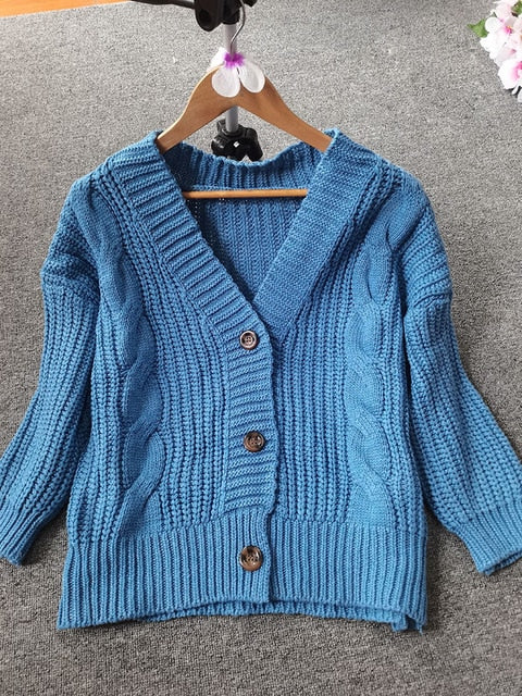 Women Short Cardigan Knitted Sweater