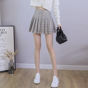 Cute Sexy Mini  Pleated Skirt with Zipper