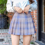 Cute Sexy Mini  Pleated Skirt with Zipper - soqexpress
