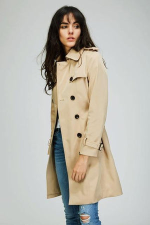 Classic Double Breasted Trench Coat - soqexpress