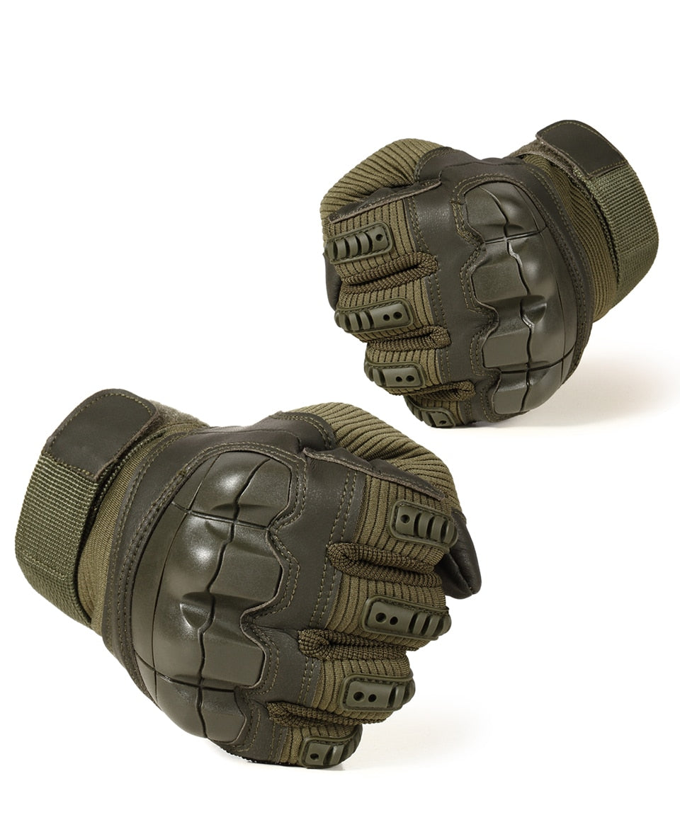 Leather Army Military Combat Airsoft Sport Cycling Gloves
