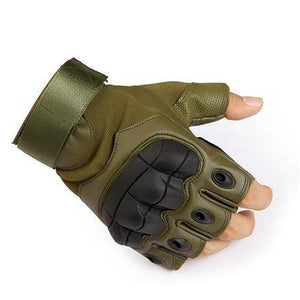 Leather Army Military Combat Airsoft Sport Cycling Gloves - soqexpress