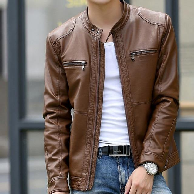 Slim Leather Jacket