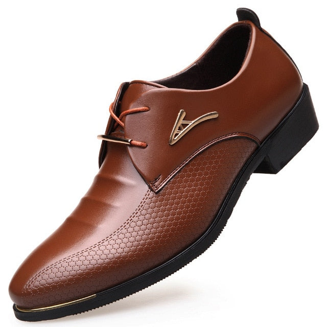 Men Dress Shoes Soft Pointed Toe Classic Fashion Business Oxford