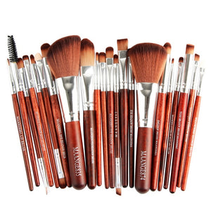 Pro 22pcs/set Makeup Brushes Powder Foundation Eyeshadow Eyebrow Eyeliner Blush