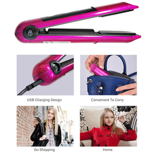 USB Recharging Professional Mini Hair Straightener with LED Display