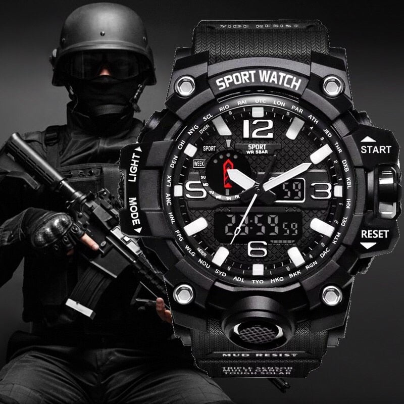 Military Army G style Shock Watch Men